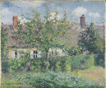 Camille Pissarro, Boerenhuizen bij Eragny, 1887