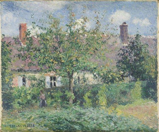 Camille Pissarro, Boerenhuis bij Eragny, 1887