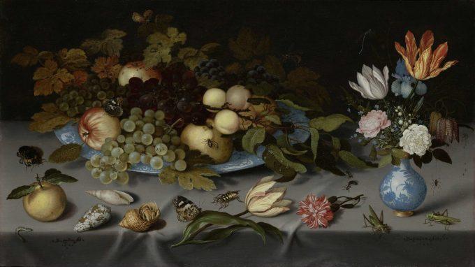 Balthasar van der Ast, Stilleven met fruit en bloemen, 1620