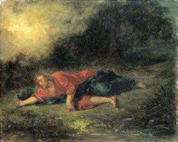 Eugène Delacroix, De ondraaglijke pijn in de tuin, 1851