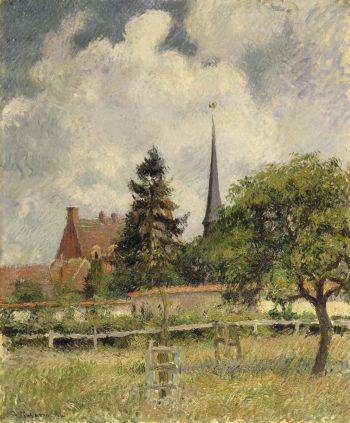 Camille Pissarro, De kerk bij Eragny, 1884