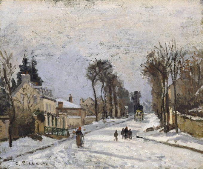 Camille Pissarro, Weg naar Versailles, 1869