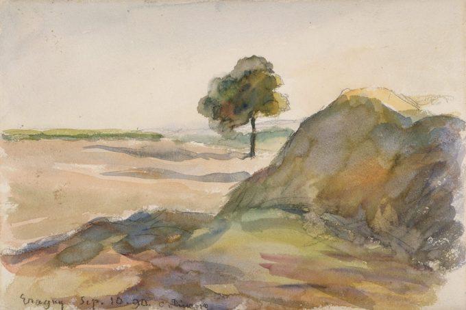 Camille Pissarro, Landschap bij Eragny, 1890