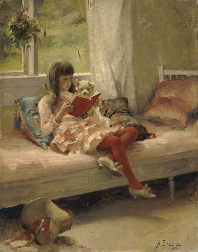 Albert Edelfelt, Goede vrienden, 1881