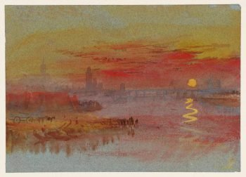 Joseph Mallord William Turner, Scharlakenrode zonsondergang, 1830