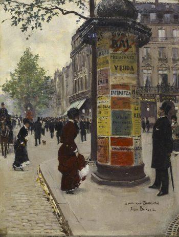Jean Béraud, Kiosk in Parijs, 1880-1884