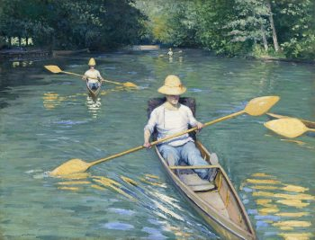 Gustave Caillebotte, Skiffs, 1877