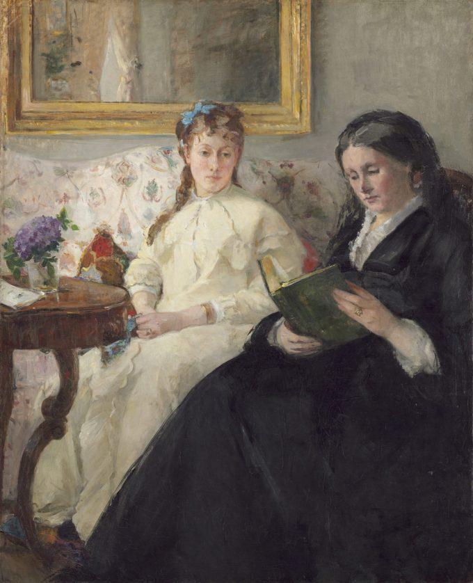 Berthe Morisot, De moeder en zus van de kunstenaar, 1869