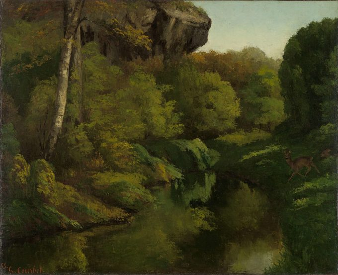 Gustave Courbet, Een kijk in het bos van Fontainebleau, 1855