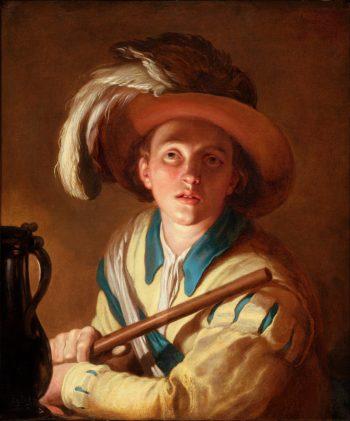 Abraham Bloemaert, De fluitspeler, 1621