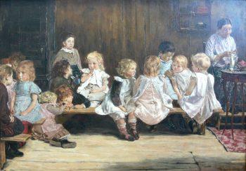Max Liebermann, Bewaarschool (kleuterschool) in Amsterdam, 1880