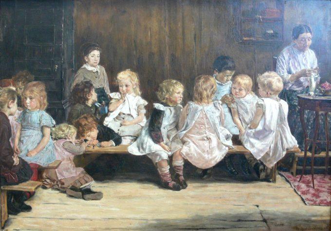 Max Liebermann, Kinderopvang in Amsterdam, 1880