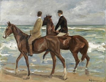 Max Liebermann, Zwei Reiter am Strand (versie 1), 1901