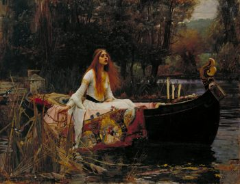John William Waterhouse,The lady of Shalott, 1888