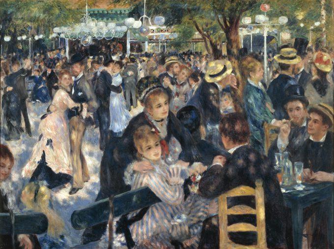 Bal du moulin de la Galette,  Pierre-Auguste Renoir, 1876