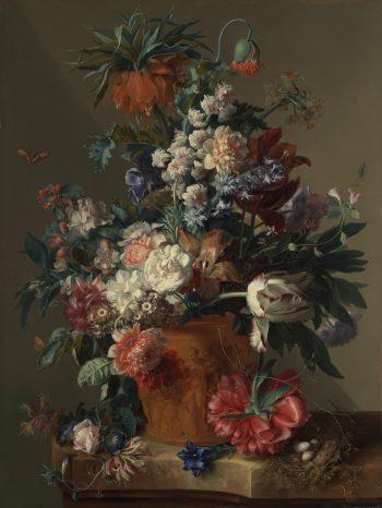 Jan van Huysum, Vaas met bloemen, 1722