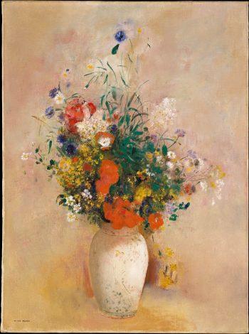 Vaas met bloemen, Odilon Redon, 1906