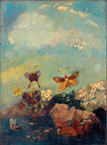 Vlinders, Odilon Redon, 1910
