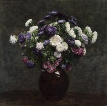 Asters in een vaas, Henri Fantin-Latour, 1875