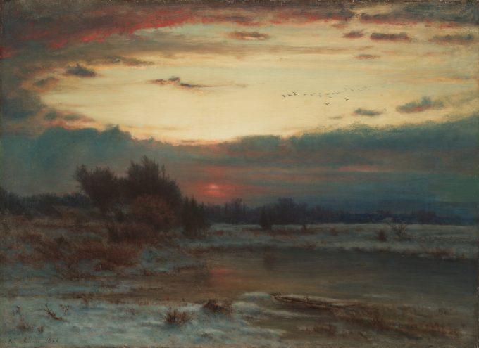 Een winterse hemel, George Inness, 1866