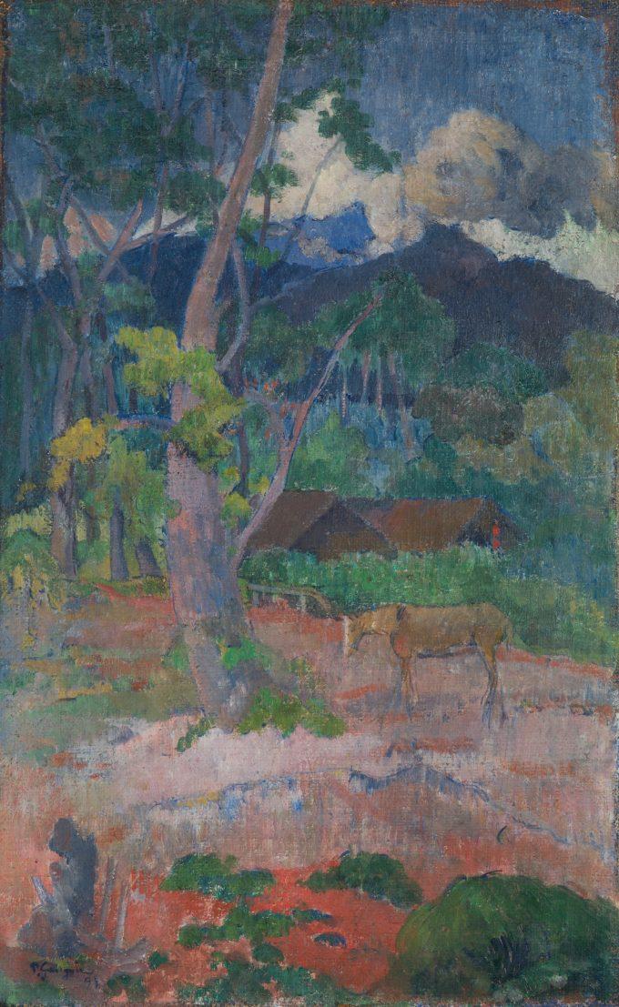 Landschap met een paard, Paul Gauguin, 1899