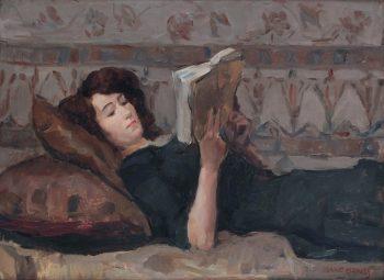 Lezende vrouw op een sofa, Isaac Israëls, 1920