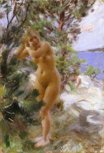 Na het baden, Anders Zorn, 1895