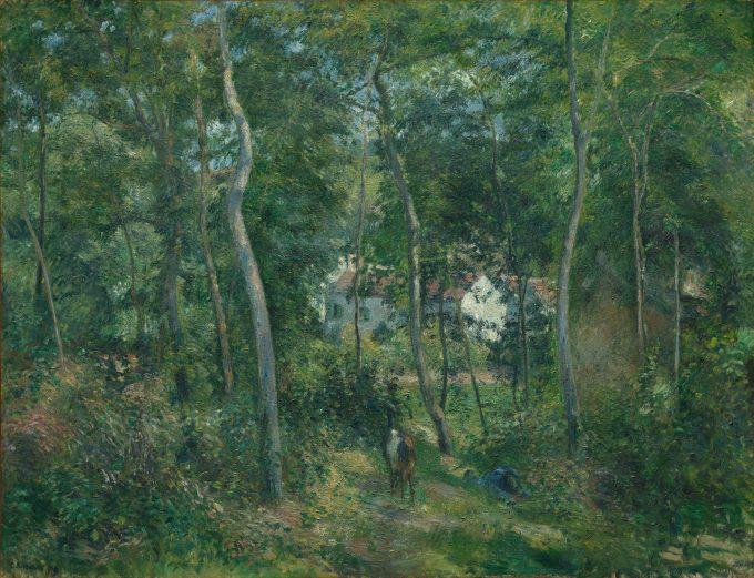 Rand van het bos bij L'Hermitage, Pontoise, Camille Pissarro, 1879