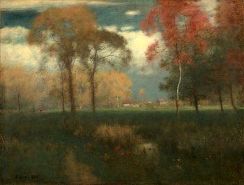 Zonnige herfstdag, George Inness, 1892