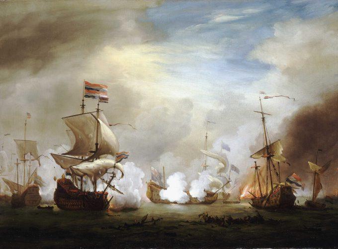 De Slag om Texel 11-21 August 1673, Willem Van de Velde, ca 1700
