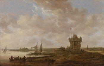 De vierkante wachttoren, Jan van Goyen, 1651