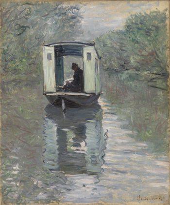 Le Bateau-atelier, Claude Monet, 1876