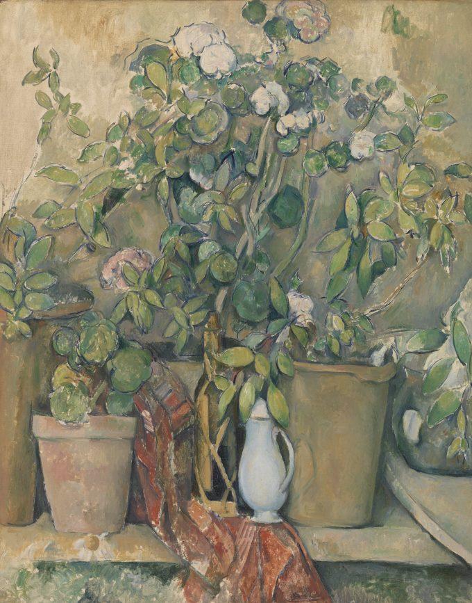 Pots en terre cuite et fleurs, Paul Cézanne, 1891–1892