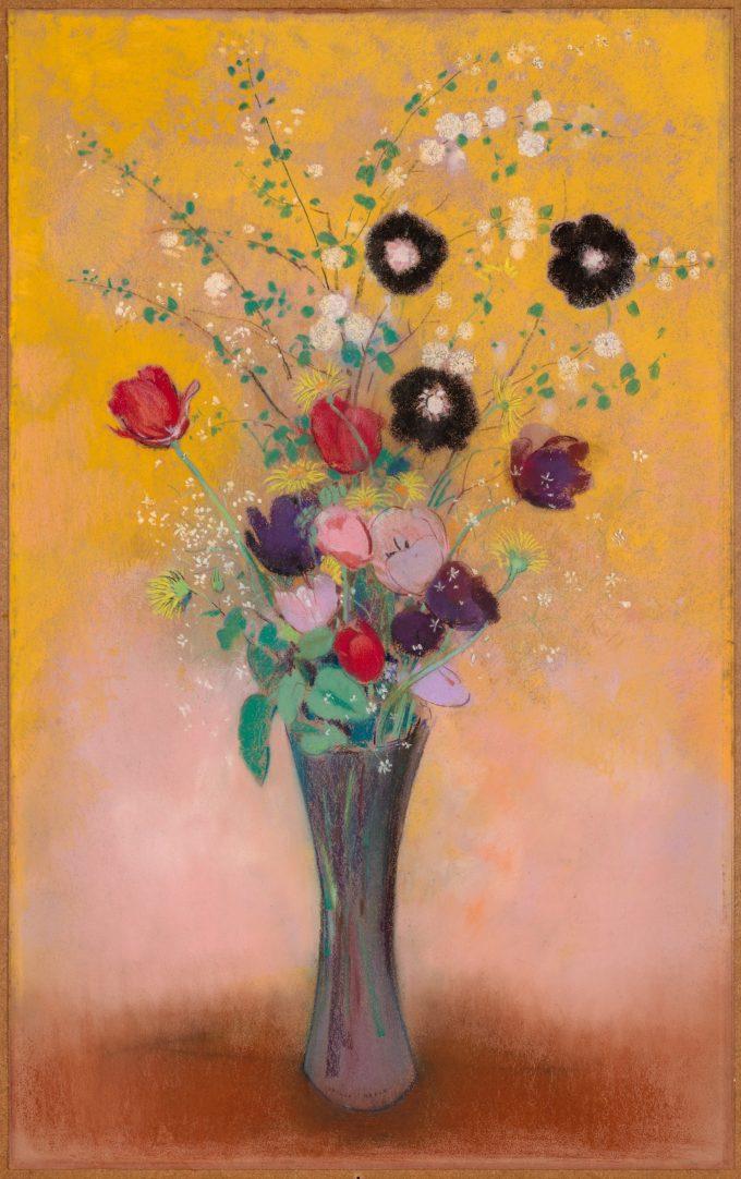 Vaas met bloemen , Odilon Redon, 1916