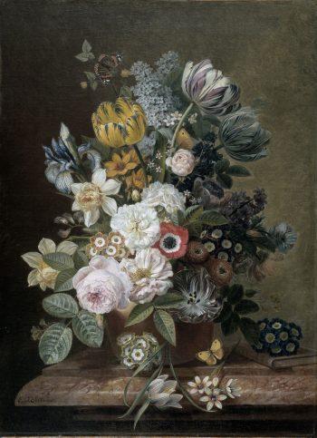 Stilleven met bloemen, Eelke Jelles Eelkema, 1815 – 1839
