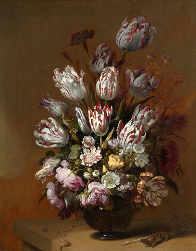 Stilleven met bloemen, Hans Bollongier, 1639